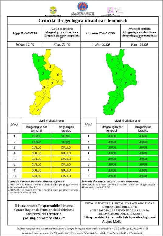 Protezione Civile Livello Verde 050219
